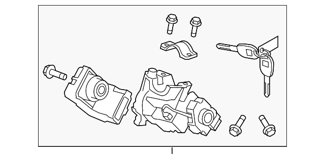 Ignition Lock Cylinder - Honda (06351-TE0-A11)
