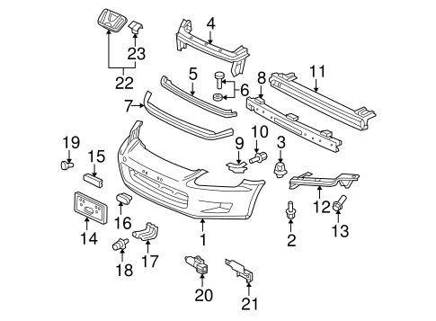 OEM Honda 71107-S2A-A00 - License Bracket Bracket