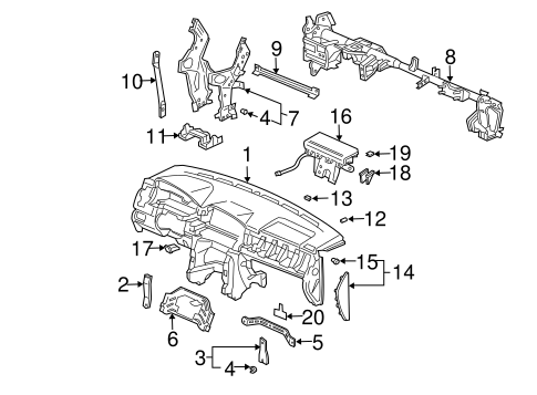 Lid Assembly, L Instrument Side *G59L* (Medium Fern) - Honda (77216-S9V-A11ZA)