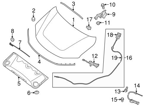 hood  u0026 components for 2014 nissan pathfinder
