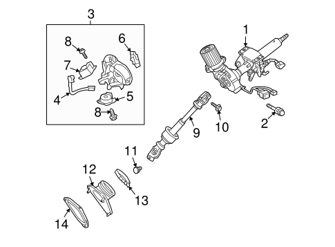 STEERING/STEERING COLUMN ASSEMBLY for 2011 Toyota Venza #1
