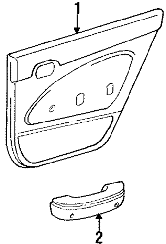 BODY/INTERIOR TRIM - REAR DOOR for 1996 Toyota Corolla #1