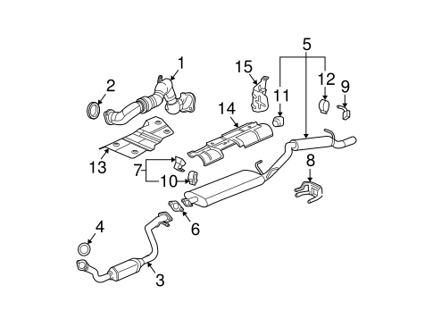 exhaust components for 2005 buick rendezvous