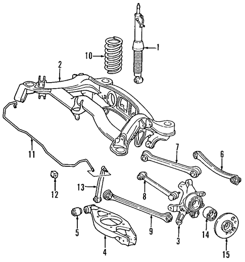 rear suspension for 2003 mercedes