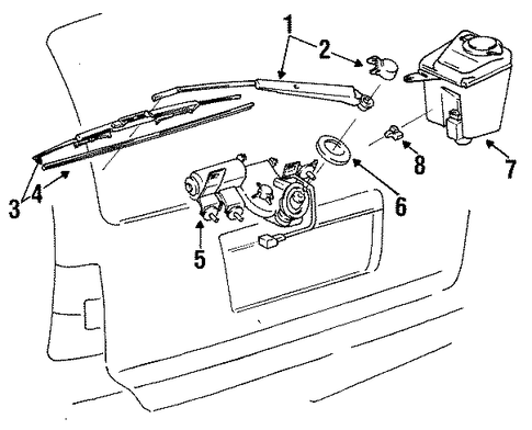 BODY/WIPER & WASHER COMPONENTS for 1997 Toyota Corolla #2