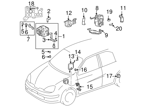BRAKES/ANTI-LOCK BRAKES for 2001 Toyota Prius #1