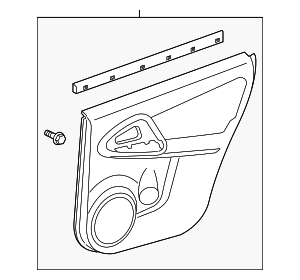 Door Trim Panel - Toyota (67640-0R020-B5)