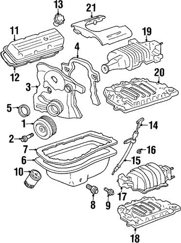 oem engine parts for 1998 pontiac bonneville