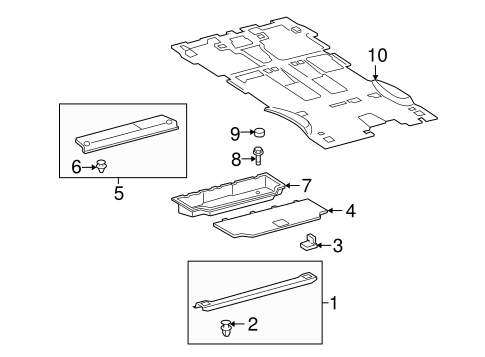 Luggage Compartment - Toyota (64070-0C010)