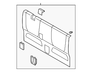 Back Panel Trim - Toyota (64270-04140-B0)