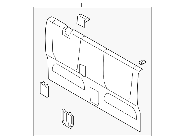 Back Panel Trim - Toyota (64270-04070-B1)
