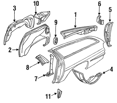 inner structure parts for 1996 chevrolet caprice