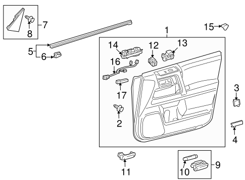Door Trim Panel - Toyota (67620-35C30-C1)