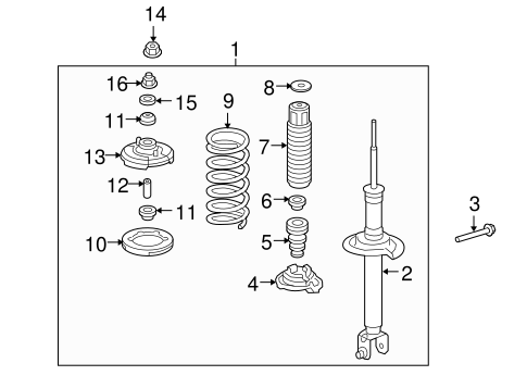 Shock Absorber Unit, Rear - Honda (52611-TP7-A11)