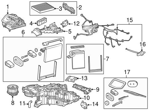 evaporator heater components for 2016 chevrolet suburban. Black Bedroom Furniture Sets. Home Design Ideas