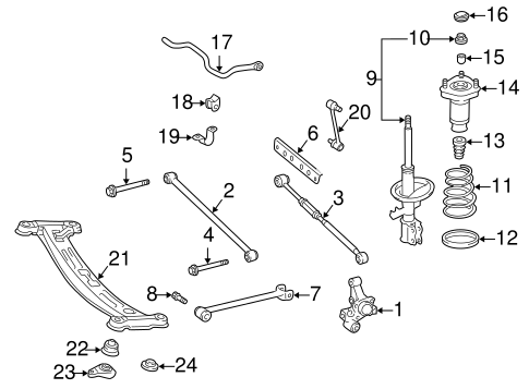 REAR SUSPENSION/REAR SUSPENSION for 1999 Toyota Camry #1