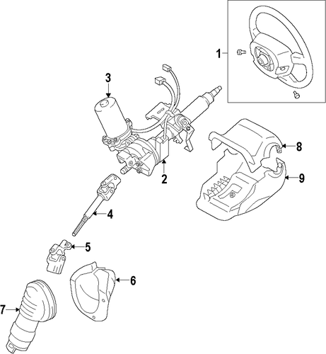 STEERING/STEERING COLUMN for 2012 Toyota Prius C #1