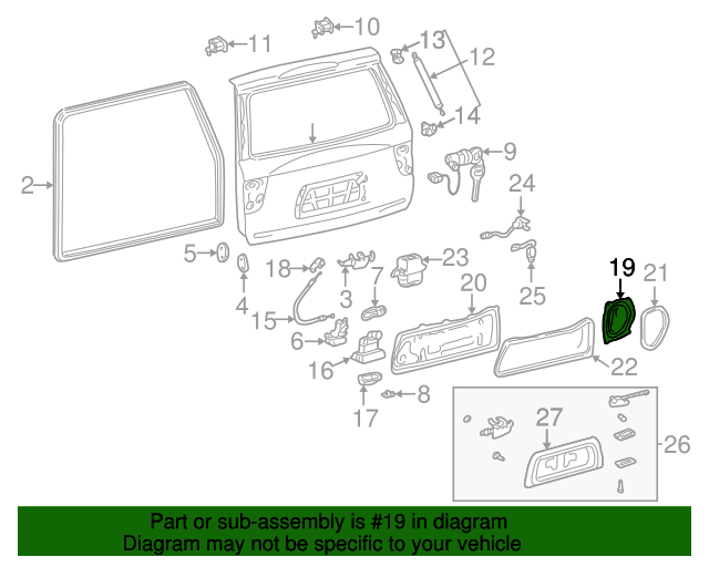 Access Cover - Toyota (67847-0C010)