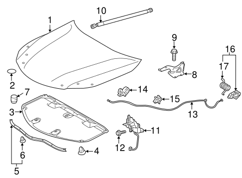 Latch - Toyota (53510-07020)