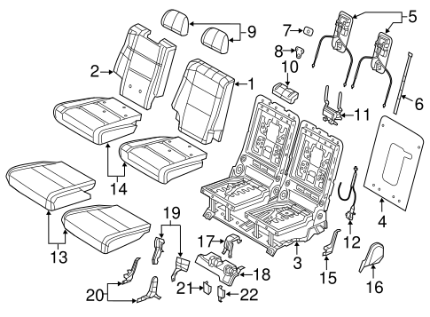 Rear Seat Components Scat