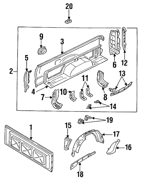Skirt Upper Bracket - Toyota (65686-89101)