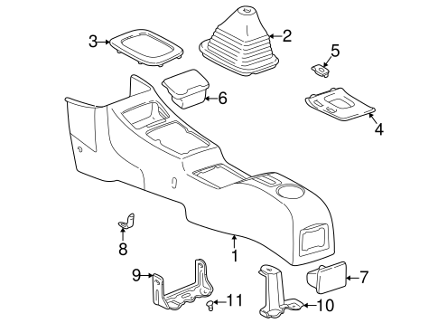 Support Bracket - Toyota (58996-42010)