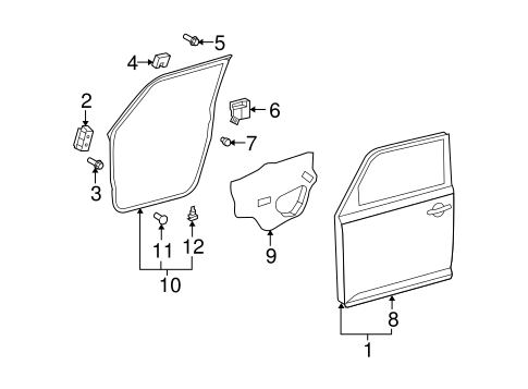 BODY/DOOR & COMPONENTS for 2014 Scion xB #2