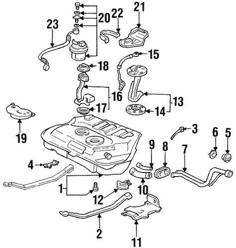 OEM Honda 16918-SR3-A32 - Fuel Strainer Stay