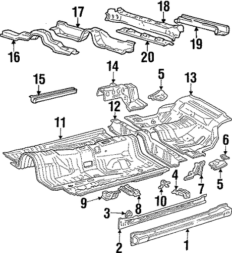 Anchor - Toyota (57806-14040)