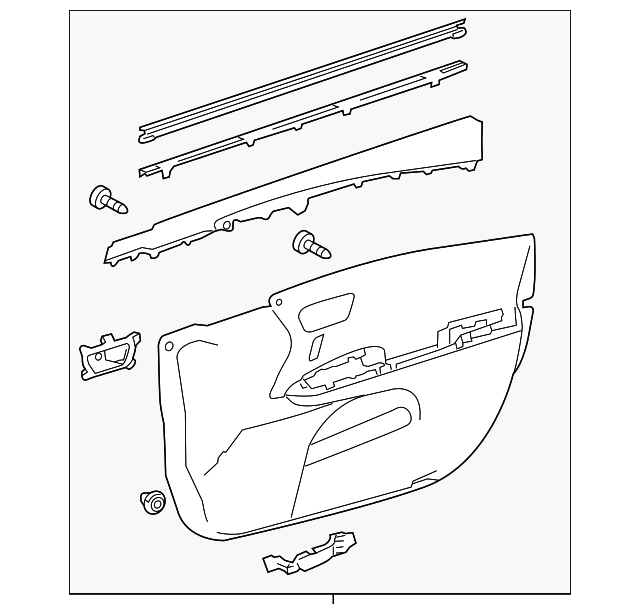 Door Trim Panel - Toyota (67620-07120-C8)
