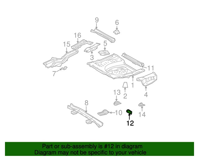 Rear Cross-Member Reinforcement - Toyota (57665-48010)