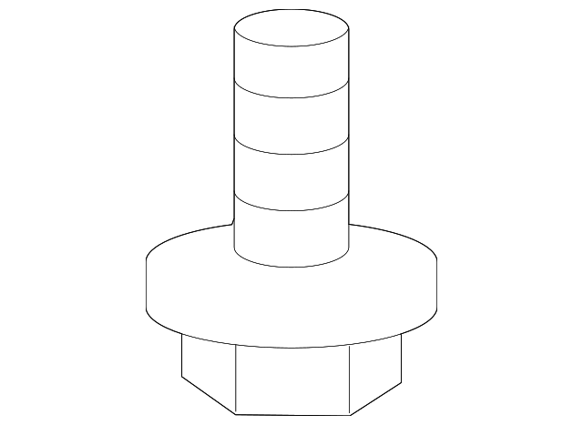 OEM Honda 93891-05010-07 - Lower Column Cover Screw