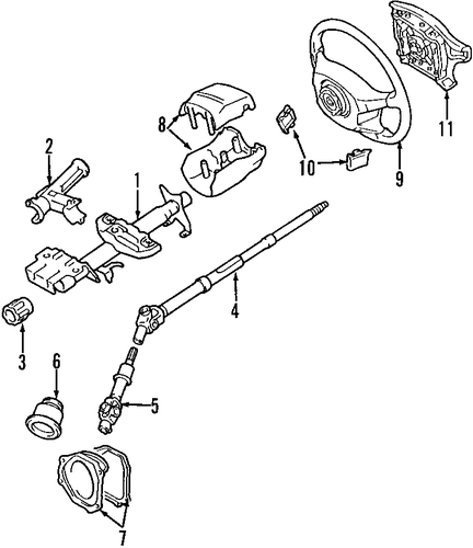 STEERING/STEERING COLUMN for 1997 Toyota RAV4 #2