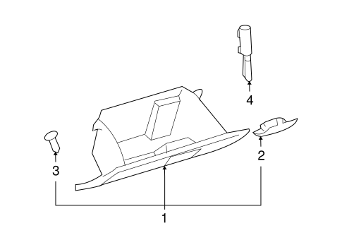 Glove Box Assembly - Toyota (55550-35081-B0)