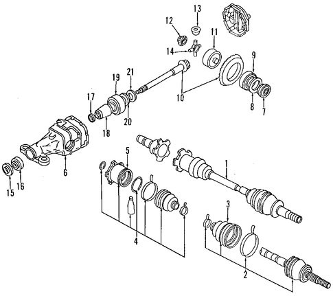 service manual  1993 nissan 300zx drive shaft removal