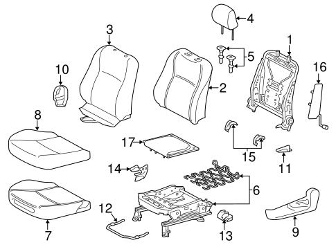 BODY/DRIVER SEAT COMPONENTS for 2015 Toyota Yaris #1