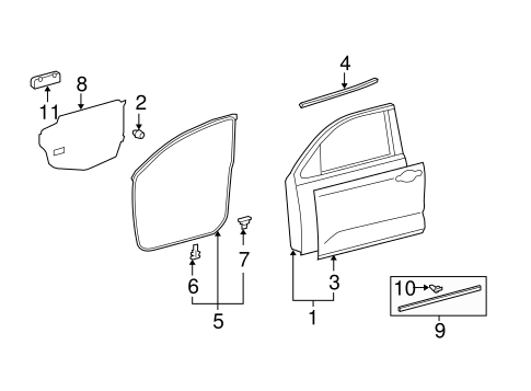 BODY/DOOR & COMPONENTS for 2007 Toyota Tundra #4