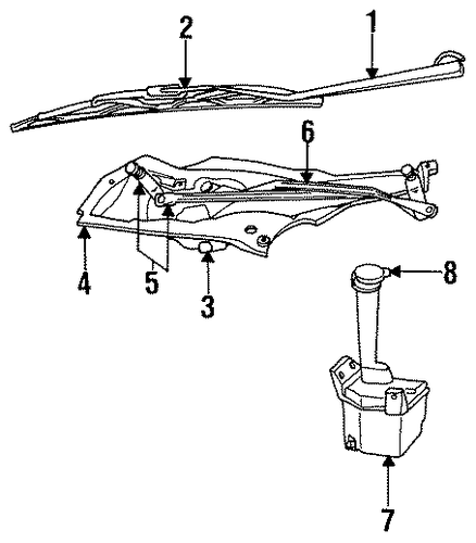 WIPER & WASHER COMPONENTS For 1994 Chrysler Concorde