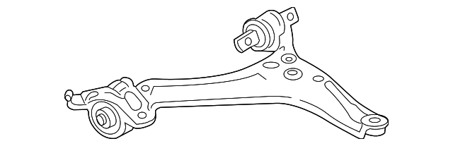 OEM Honda 51350-T2A-A03 - Arm, R Front (Lower)