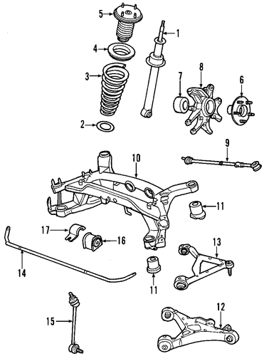 rear suspension for 2001 jaguar s