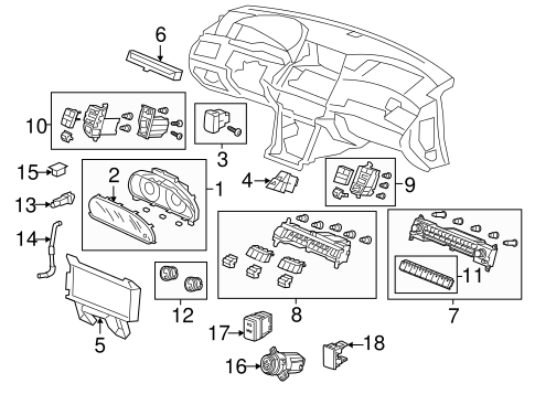 Sub-Display Assembly, Navigation (Coo) - Honda (39711-TP6-305)