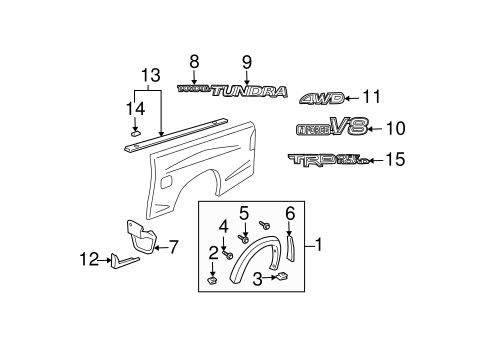 Extension Insert - Toyota (58742-0C030)