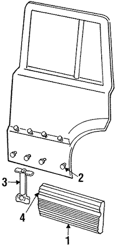 Exterior Trim Rear Door For 1998 Jeep Grand Cherokee