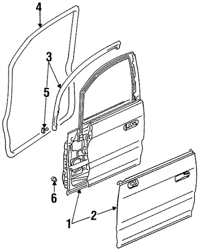 OEM Honda 72365-SX0-003 - Door Weather-strip