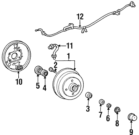 BRAKES/REAR BRAKES for 1997 Toyota Paseo #1