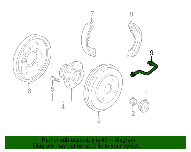 1999 Honda ACCORD SEDAN LX HOSE SET, RR. BRAKE - (01466S84A00)