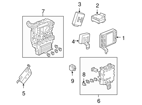 OEM Honda 38210-SHJ-A23 - Box Assembly, Fuse (Passenger Side)