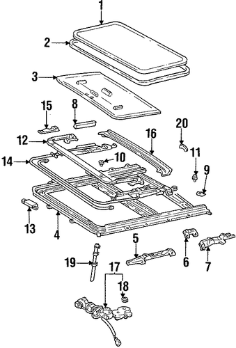 Rear Drip Rail - Toyota (63214-12040)