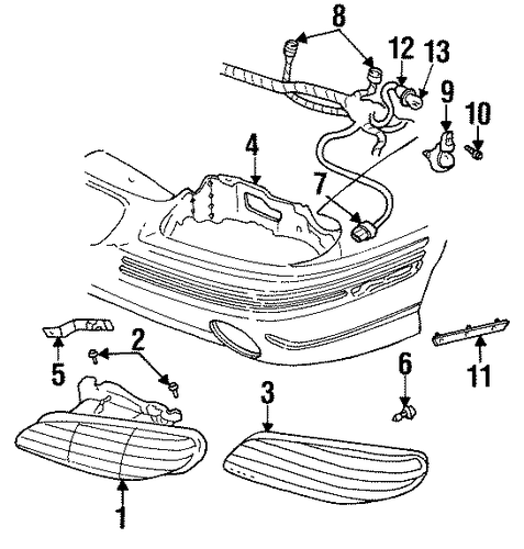 1992 Oldsmobile Bravada Transmission: Pontiac Grand Am Sensor Connector 1992-2005