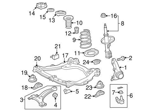 FRONT SUSPENSION/SUSPENSION COMPONENTS for 2012 Toyota Venza #1